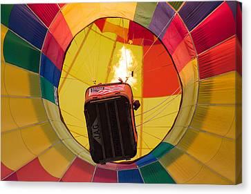 Hot Air Balloon Rising Canvas Print by Brian Caldwell