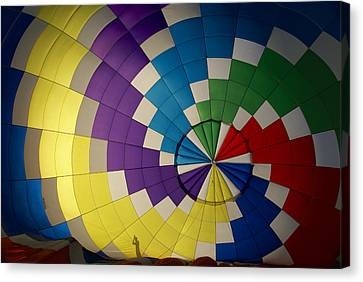 Hot Air Balloon Silhouette Canvas Print