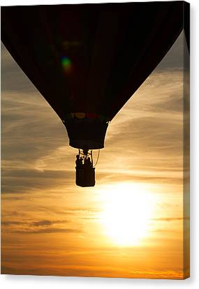 Hot Air Balloon Sunset Silhouette Canvas Print by Brian Caldwell
