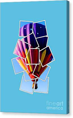 Hot Air Balloon Tee Canvas Print by Edward Fielding