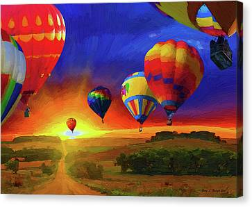 Hot Air Balloons Canvas Print by Jerry L Barrett