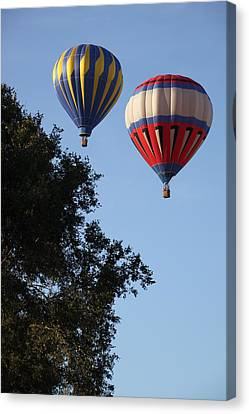 Hot Air Balloons Over Dansville Ny Canvas Print