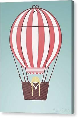 Hot Air Baloon Canvas Print by Mollie Draws
