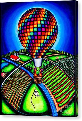 Hot Air Kats Canvas Print by Laurie Tietjen