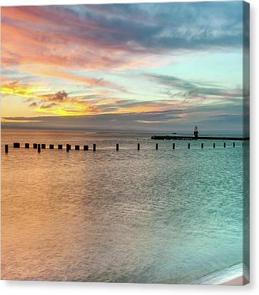 Hot And Cold - Ocean Beaches Canvas Print by Gregory Ballos