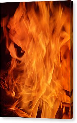 Hot Blazing Fire Canvas Print by Garry Gay