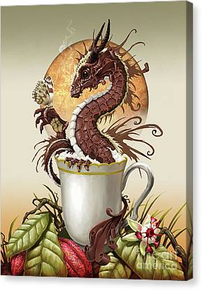 Hot Chocolate Dragon Canvas Print