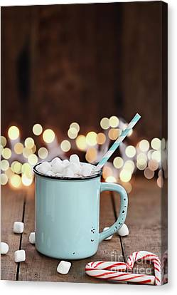 Hot Cocoa With Mini Marshmallows Canvas Print by Stephanie Frey