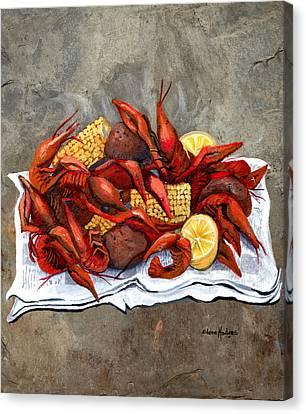 Hot Crawfish Canvas Print by Elaine Hodges