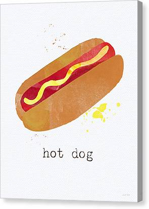 Hot Dog Canvas Print by Linda Woods