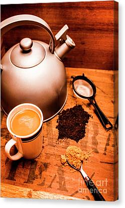 Hot Drink Details. Tea Print Canvas Print by Jorgo Photography - Wall Art Gallery