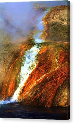 Hot Flow Canvas Print by Russell  Barton