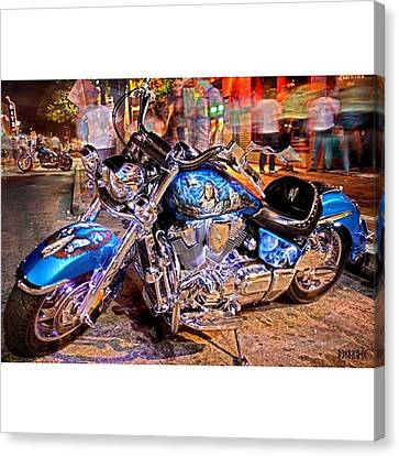 Hot Harley During Rot Canvas Print by Andrew Nourse