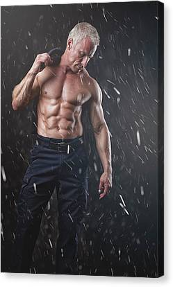 Canvas Print - Hot In The Snow by Marcin and Dawid Witukiewicz