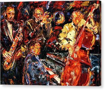 Hot Jazz 2 Canvas Print by Debra Hurd