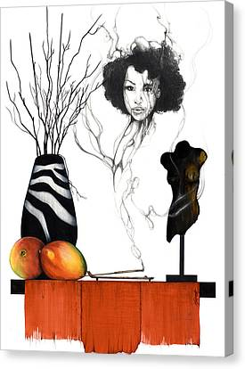 Black Artist Canvas Print - Hot Like Fire IIi by Anthony Burks Sr
