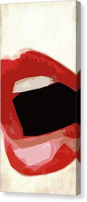 Hot Lips.. 2 Canvas Print by Prar Kulasekara