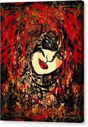 Hot Lips Canvas Print by Natalie Holland