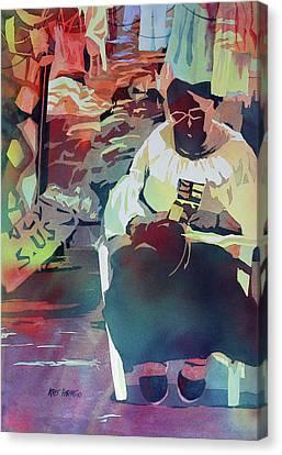 Hot Market Canvas Print by Kris Parins