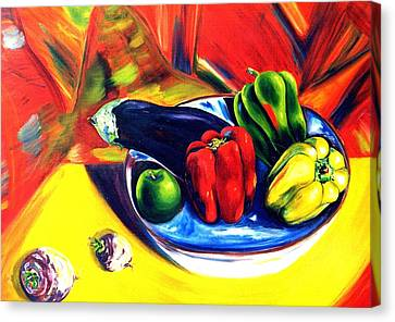 Hot Peppers Canvas Print by Lisa Boyd