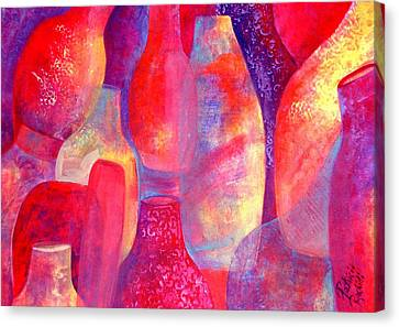 Hot Pots Canvas Print