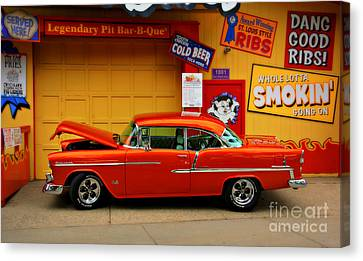 Hot Rod Bbq Canvas Print