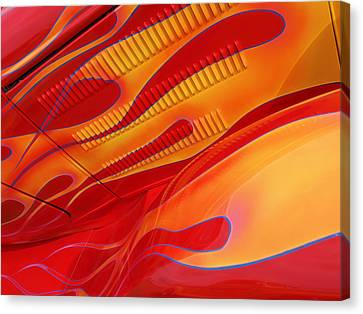 Hot Rod Flames Canvas Print by Gill Billington