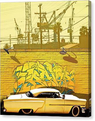 Hot Rod Graffitti Canvas Print by Larry Butterworth