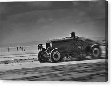 Hot Rods At Pendine 14 Canvas Print