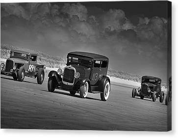 Hot Rods At Pendine 15 Canvas Print
