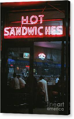 Hot Sandwiches Canvas Print by The Harrington Collection
