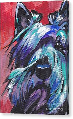 Scottish Dog Canvas Print - Hot Scot by Lea S