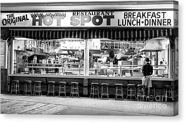 Street Shot Canvas Print - Hot Spot Dining by John Rizzuto