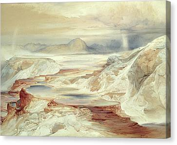 Hot Springs Of Gardiner's River, Yellowstone Canvas Print