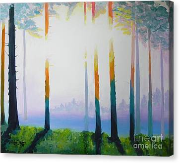 Thewoods Canvas Print - Hot Summer by Jolanta Shiloni