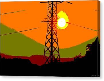 Canvas Print featuring the photograph Hot Summer Sun by JoAnn Lense