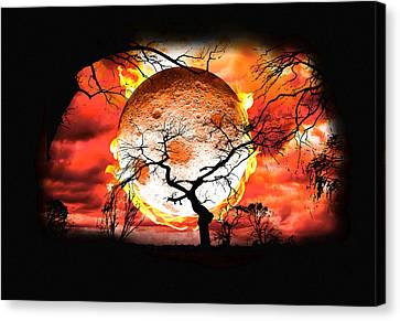 Hot Summers Night Canvas Print by Brainwave Pictures