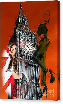 Hot Times In London Canvas Print by John Rizzuto
