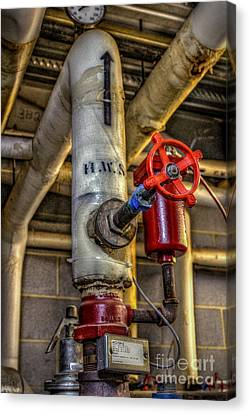 Hot Water Supply Canvas Print