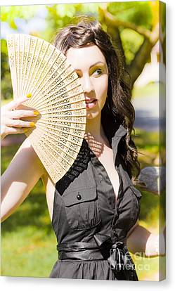 Hot Woman Canvas Print by Jorgo Photography - Wall Art Gallery