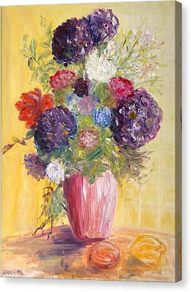 Hotel Bouquet Canvas Print by Barbara Anna Knauf