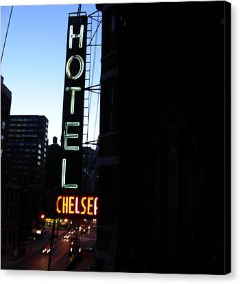 Hotel Chelsea Canvas Print by Xavier Wasp