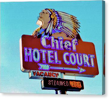 Canvas Print featuring the photograph Hotel Chief Court by Matthew Bamberg