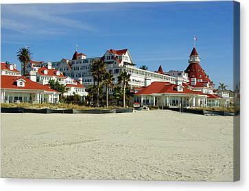 Hotel Del Coronado Beach Canvas Print