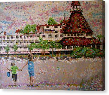 Hotel Del Canvas Print by Denise Landis