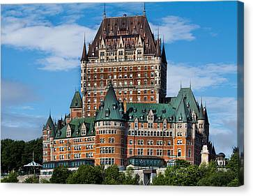 Chateau Canvas Print - Chateau Frontenac In Quebec City by David Smith