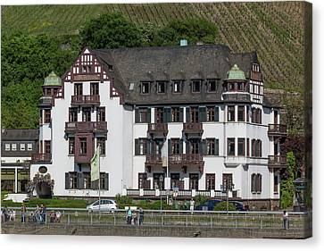 Hotel In Assmannshausen Germany Canvas Print