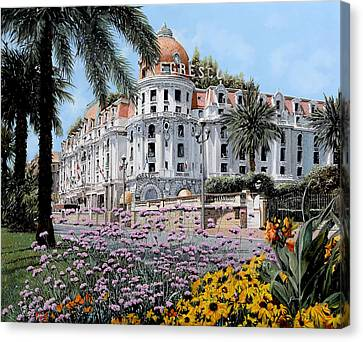 Hotel Negresco  Canvas Print by Guido Borelli