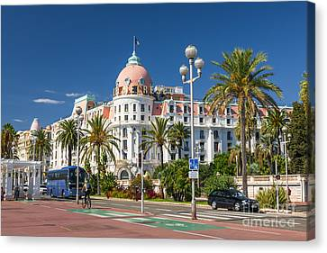 Hotel Negresco On English Promenade In Nice Canvas Print by Elena Elisseeva