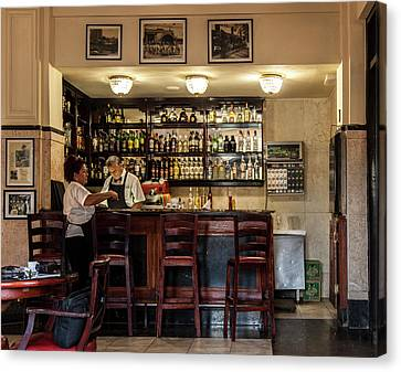 Canvas Print featuring the photograph Hotel Presidente Bar Havana Cuba by Charles Harden